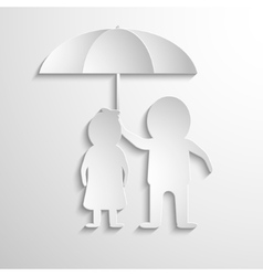 Together Under Umbrella vector image