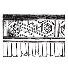 Tomb incas valence vintage vector