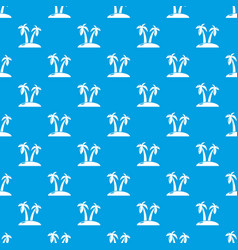 tropical island pattern seamless blue vector image