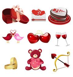 valentine icons vector image