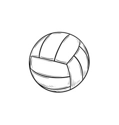 Volleyball ball hand drawn outline doodle icon vector