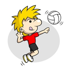 Volleyball Spike vector image vector image