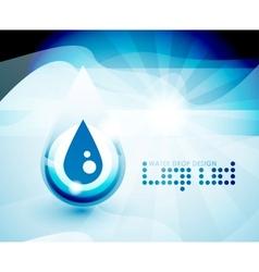 Water drop background vector
