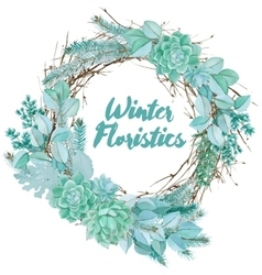 Watercolor Floristic Composition vector