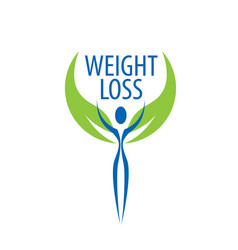 weight loss logo vector image