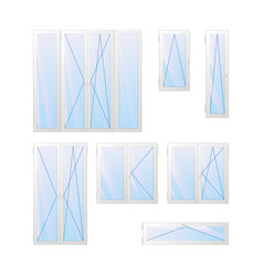 windows and doors charts vector image