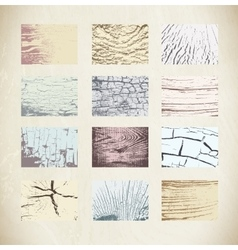 Wood textures template vector