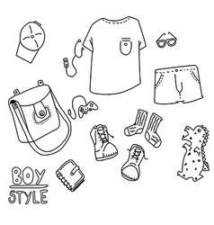 boy style line vector image vector image