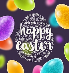 Easter multicolored greeting card vector image vector image
