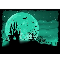Halloween poster with zombie EPS 8 vector image