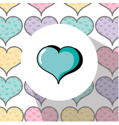 heart emblem to love and passion symbol vector image