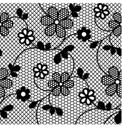 lace flowers seamless pattern vector image