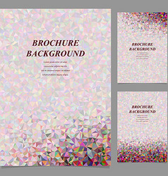 Modern geometric abstract brochure design vector image