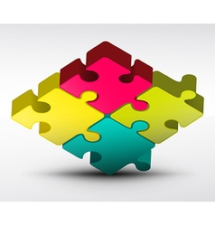 Puzzle Jigsaw 3d vector image