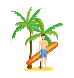 Surfing boy vector image
