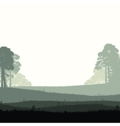 Wild coniferous forest vector image