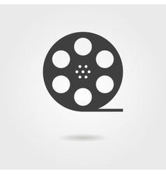 film reel icon with shadow vector image vector image