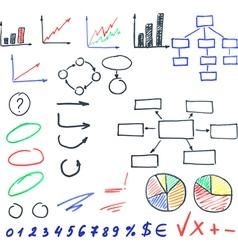 highlighter elements set vector image