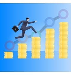 On the way to success business concept vector image vector image