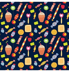 Sweets funny background with candies vector image vector image