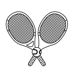 tennis sport racket with ball vector image