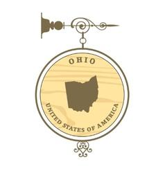 Vintage label Ohio vector image vector image