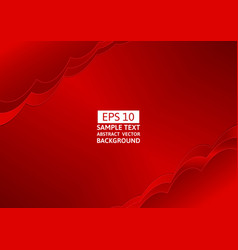 abstract red wave overlap background with copy vector image vector image
