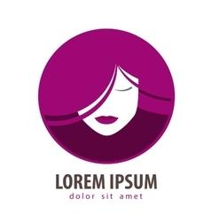 beauty salon logo design template cosmetic vector image