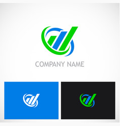 business finance line progress company logo vector image vector image