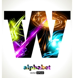 Design abstract letter w vector