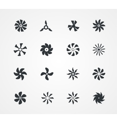 Fan icons collection vector image