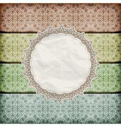 seamless floral borders abd napkin vector image