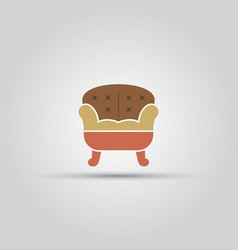 sofa isolated colored icon vector image