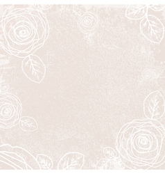 Vintage Rose Ivory Background vector image vector image