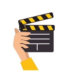 Clapboard movie action object vector