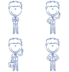 Cute and funn office worker vector image vector image