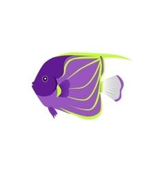Heniochus Intermedius Fish Flat Design vector image vector image