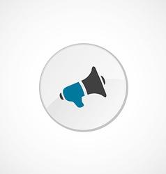speaker icon 2 colored vector image