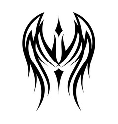 tribal wing vector image