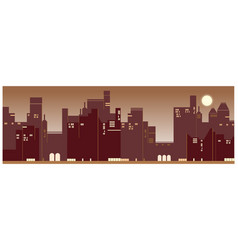 a contemporary city sunset background vector image