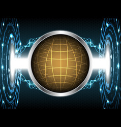 abstract globe technology design vector image