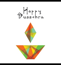 Abstract happy dussehra greeting or poster design vector
