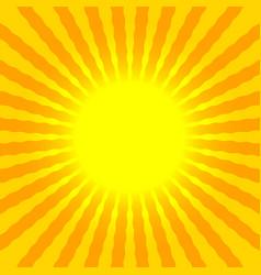 abstract sun rays wavy yellow and orange vector image