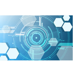 abstract technological digital hexagonal display vector image