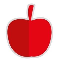 Apple silhouette icon vector