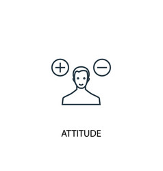 Attitude concept line icon simple element vector