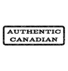 Authentic canadian watermark stamp vector