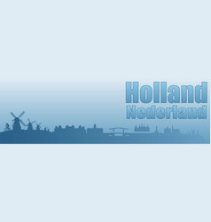 Banner with the image of the sights of holland vector