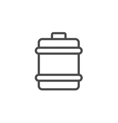 barrel line outline icon and liquid container vector image