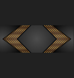 black and golden arrows abstract tech banner vector image